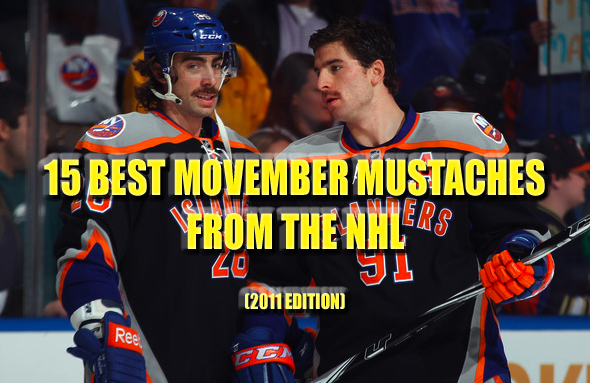 best movember mustaches nhl 2011
