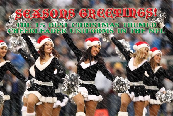best nfl cheerleader christmas holiday outfits uniforms costumes