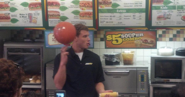 blake griffin subway