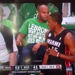 Celtics Fan's Shirt Rips LeBron's Mom
