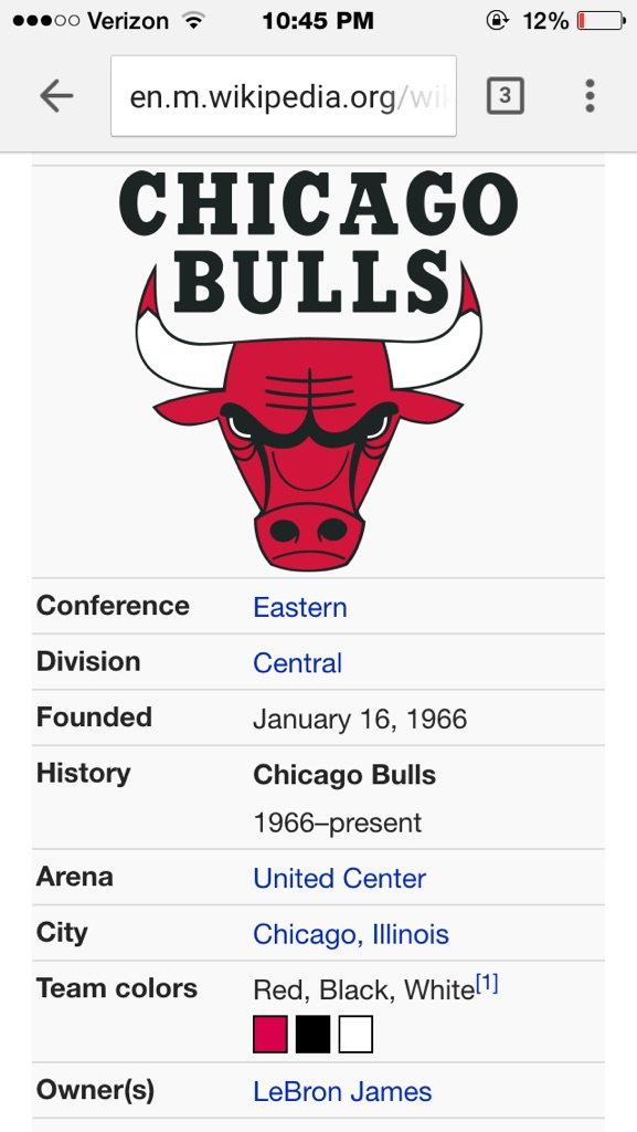 Bulls Wiki Page Updated… LOL!