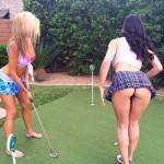 dan bilzerian Golfing with Tiger Woods
