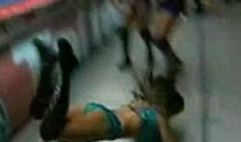 Female Wrestler Dark Angel Suffers Nasty Faceplant Outside Ring (Video)