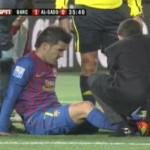 david villa breaks leg