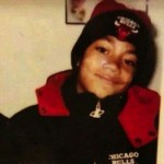 derrick rose in bulls hat and jacket as a child
