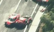 Eight Ferraris, Two Mercedes And A Lamborghini In The Most Expensive Car Crash Ever (Video)