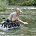 fishing in wheelchair