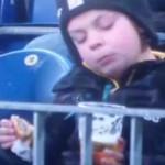 german kid drinking beer