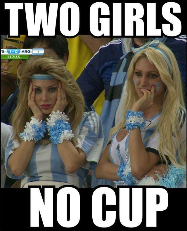 Two Girls, No Cup!
