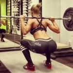 hot girls doing squats