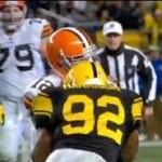 james harrison hit to head of colt mccoy