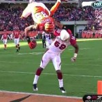 jerome simpson front flip touchdown