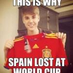 justin bieber spain world cup jersey