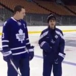 justin bieber with the leafs
