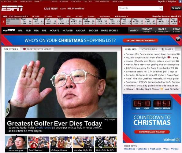 kim jong-il best golfer