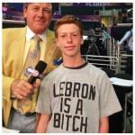 lebron is a bitch t shirt