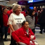 lebron james is a bitch t-shirt worn by grandmother