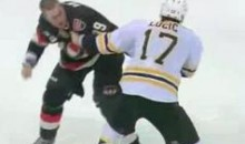 Frozen Fisticuffs Fight Of The Night — Lucic vs. Carkner — 12/14/11