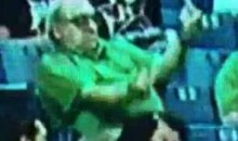 Old Marshall Fan Dances With His Middle Fingers In The Air (Video)