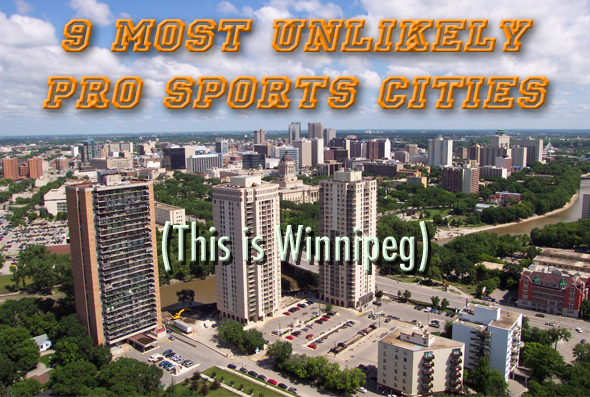 most unlikely pro sports cities