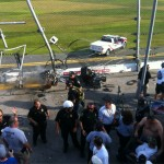 nationwide race at Daytona crash in stands
