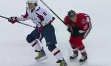 Alex Ovechkin Speared Chris Neil In The Groin (Video)