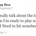 ray rice twitter