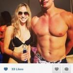 rob gronkowski and girl at vegas pool party