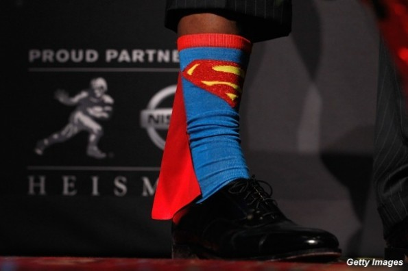 Robert Griffin III Superman socks