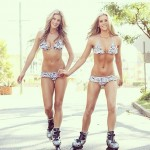 rollerblading twins