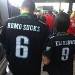 romo sucks eli blows eagles jersey