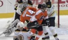 Flyers' Sean Couturier Takes A Puck To The Head (Video)