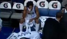 Mavs' Sean Williams Pukes On The Bench (Video)