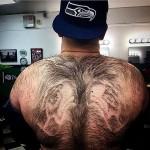 seattle seahawks fan hair