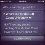 siri confused about florida gulf coast university
