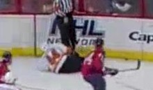 Referee Stephen Walkom Lays A Big Hit On Kimmo Timonen (Video)