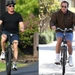 sylvester and arnold riding bikes