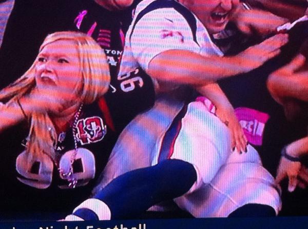 Texans Fan Grabs Players Junk