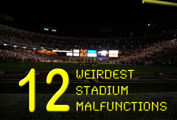 weirdest stadium malfunctions