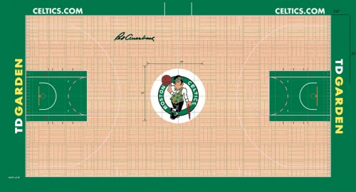 #1 boston celtics court design