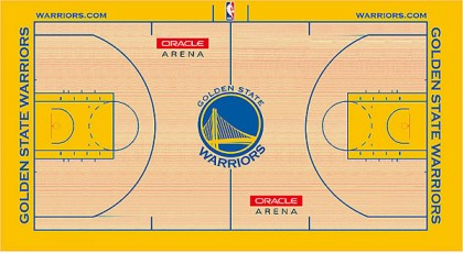 #10 golden state warriors court copy