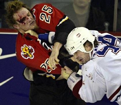Darren McCarty bloody hockey fight