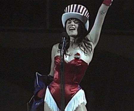 #16 lucy lawless national anthem wardrobe malfunction nip slip