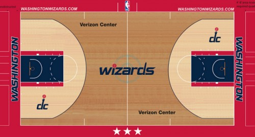 #2 washing wizards court design