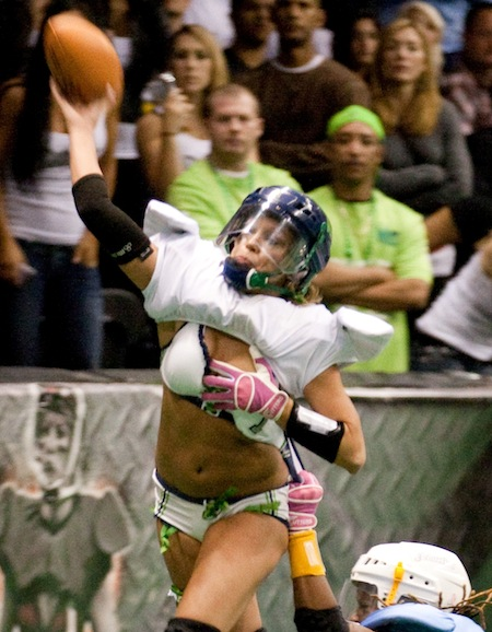 lingerie football QB wardrobe malfunction