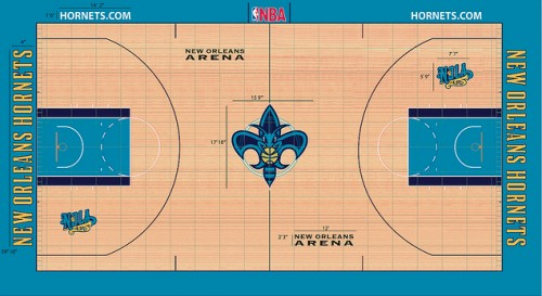 #3 new orleans hornets court designs