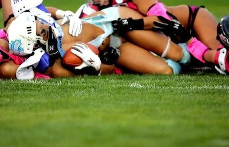 lingerie football boob slip