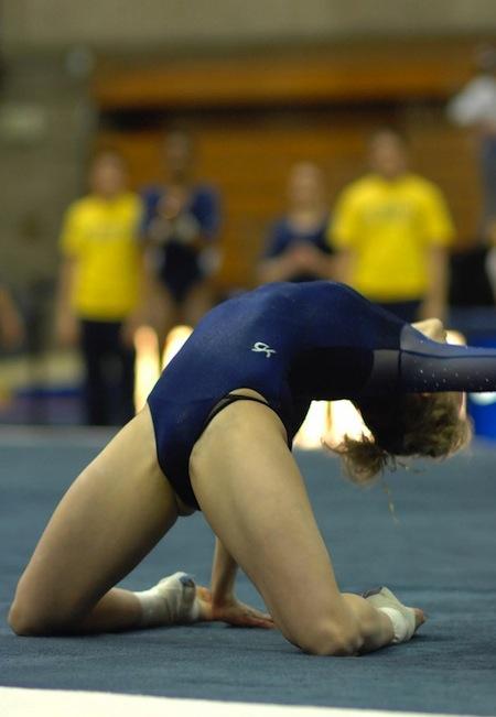 Gymnast wardrobe malfunction