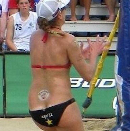 beach volleyball butt crack