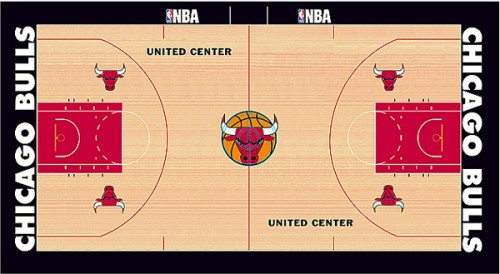 #4 chicago bulls court design
